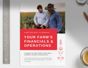 Your farm's financials and operations guide title page